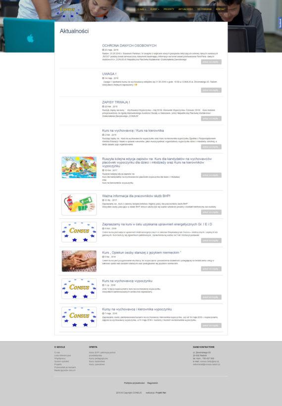 Strona aktualności Consus CKIDZ