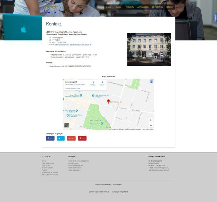 Strona kontakt Consus CKIDZ