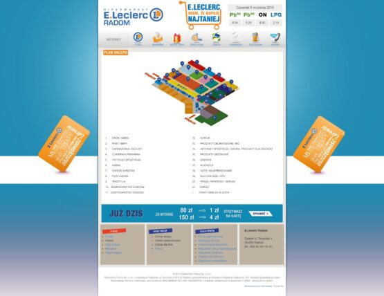 Strona mapki sklepu E-Leclerc Radom