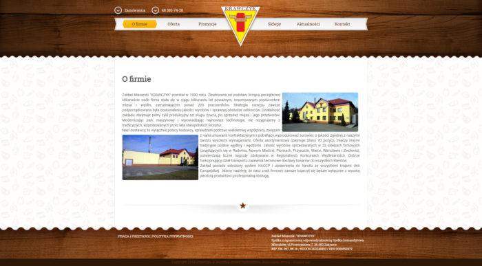 Strona o firmie Krawczyk