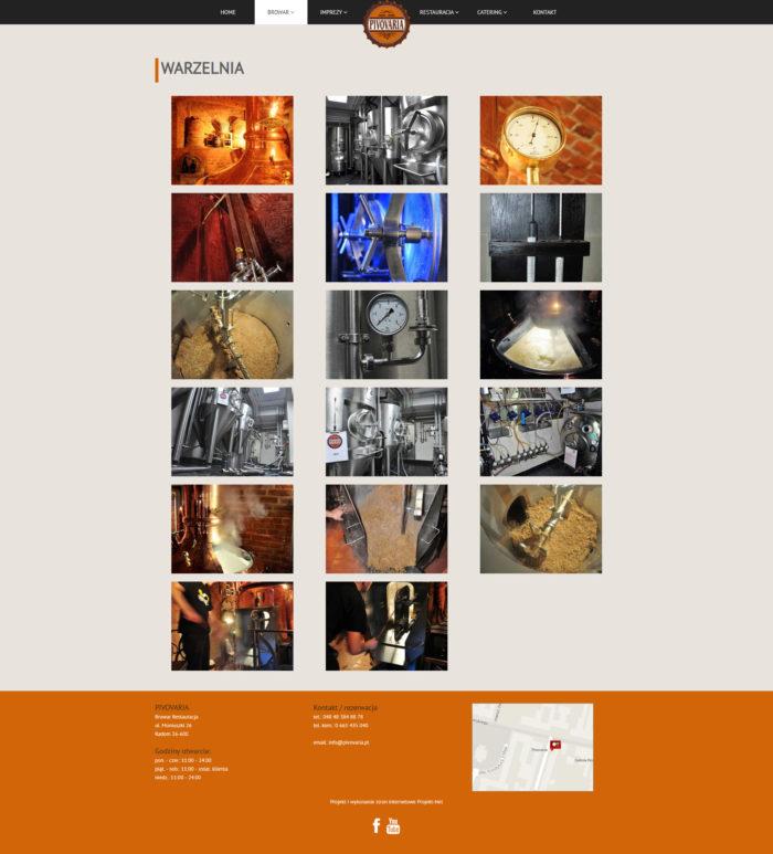 Strona galeri PIVOVARIA