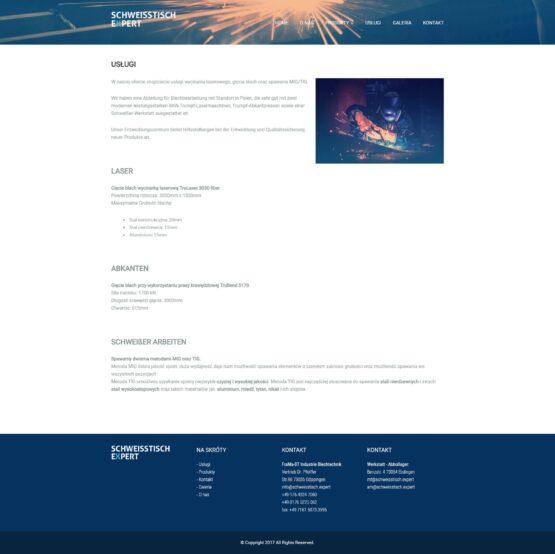 Strona usługi FraMa-BT