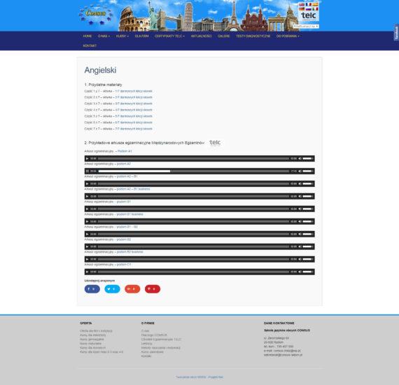 Strona materialów angielskich SJO Consus