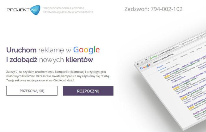 Projekt Net Adwords