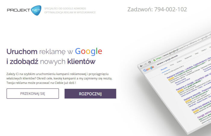 Projekt Net Adwords